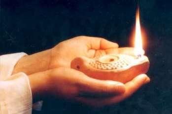 lampara encendida