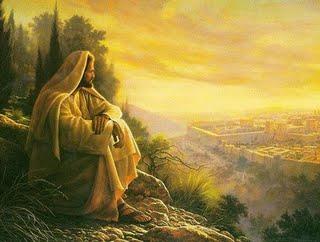 Gesu che osserva lGerusalemme